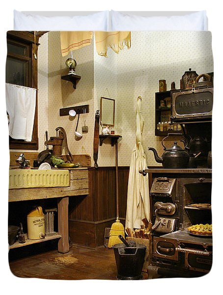 Granny's Kitchen Duvet Cover by Marilyn Wilson