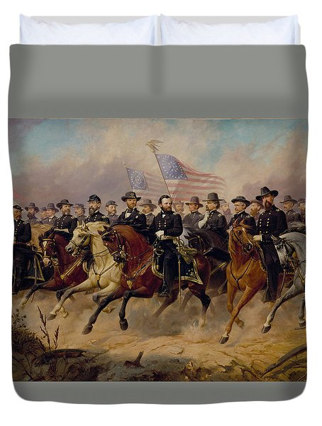 Grant And His Generals Duvet Cover
