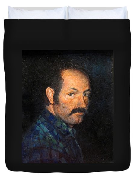 Duvet Cover featuring the painting Grant by Donna Tucker