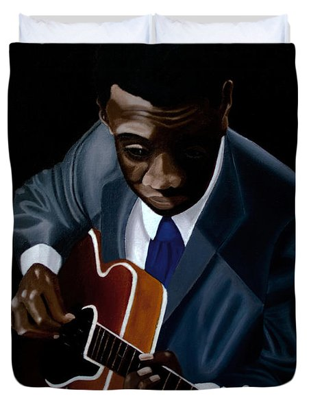 Grant Green Duvet Cover by Barbara McMahon