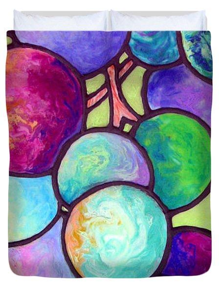Duvet Cover featuring the painting Grape De Chine by Sandi Whetzel