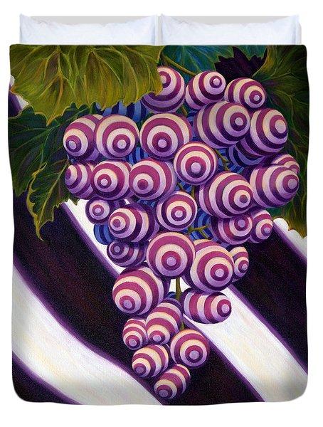 Duvet Cover featuring the painting Grape De Menthe by Sandi Whetzel