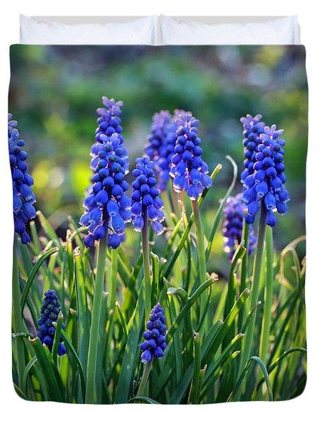 Grape Hyacinths Duvet Cover