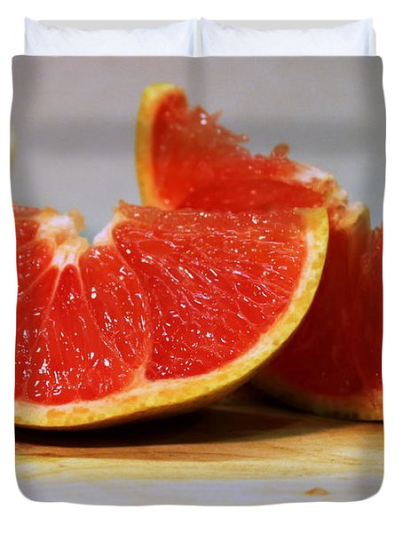 Grapefruit Slices Duvet Cover