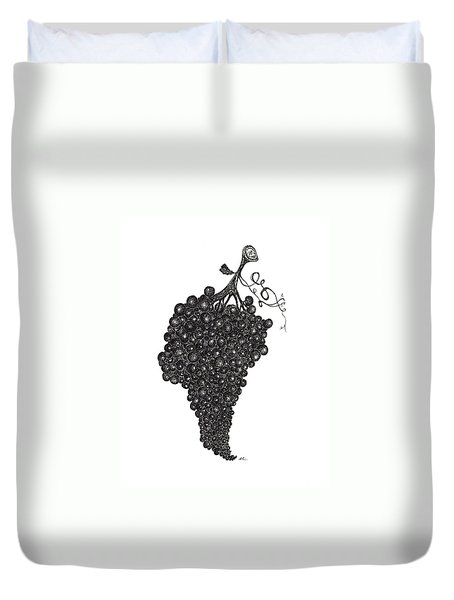 Grapefull Greetings Duvet Cover