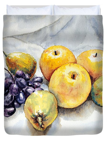 Grapes And Pears Duvet Cover