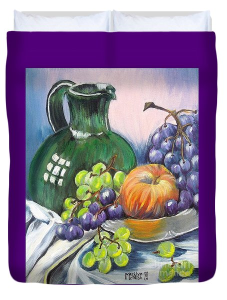 Grapes Galore Duvet Cover by Marilyn  McNish