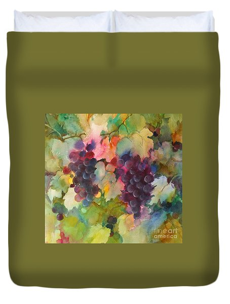 Grapes In Light Duvet Cover