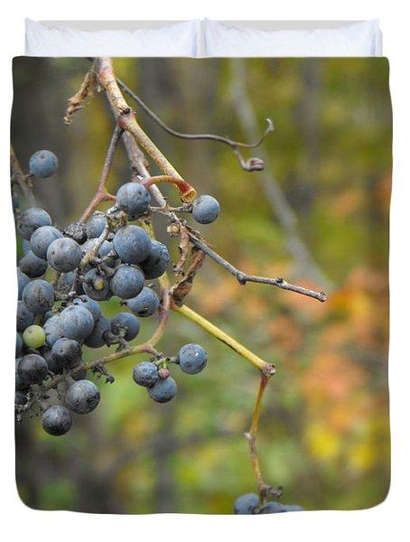 Grapes Left Duvet Cover