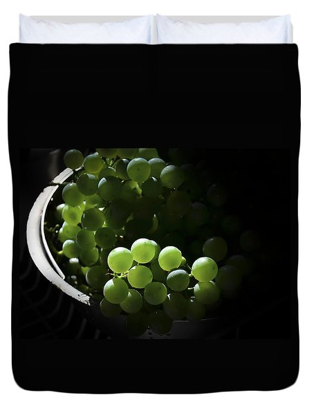 Grapes And Silver Duvet Cover