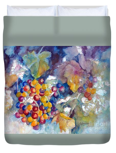Grapes On The Vine Duvet Cover