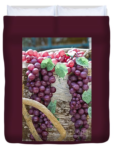 Grapes Duvet Cover by Tim Hightower