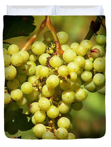 Grapes - Yummy And Healthy Duvet Cover by Christine Till