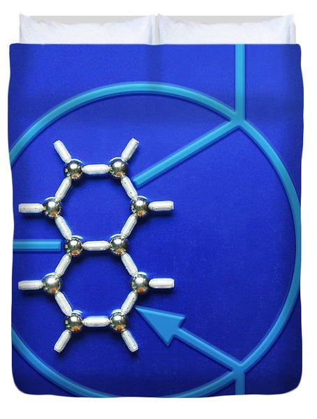 Graphene Transistor Duvet Cover by GIPhotoStock