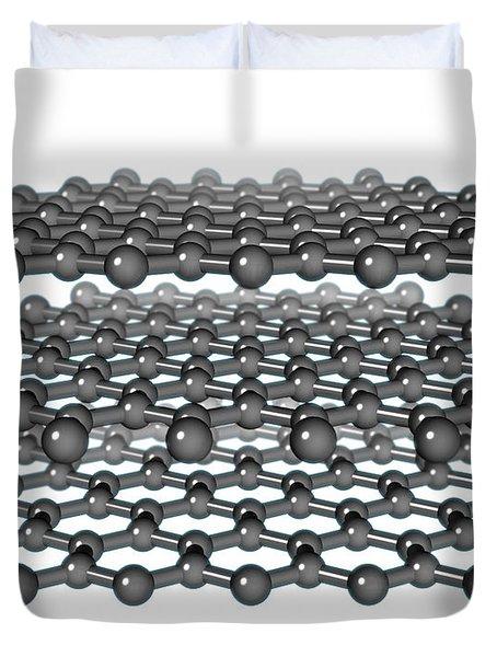Graphite Molecular Model Duvet Cover