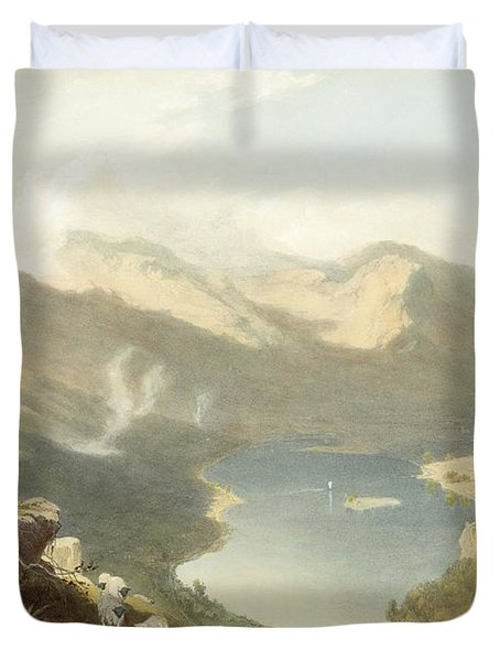 Grasmere From Langdale Fell, From The Duvet Cover by James Baker Pyne