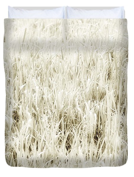 Grass Abstract Duvet Cover by Elena Elisseeva