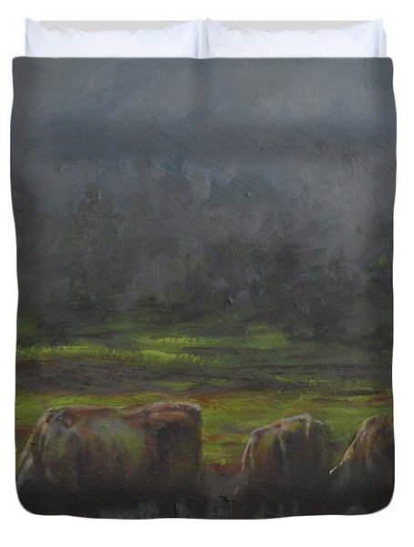 Grass It's What's For Dinner Duvet Cover by Mia DeLode
