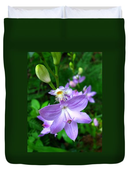 Grass Pink Orchid Duvet Cover