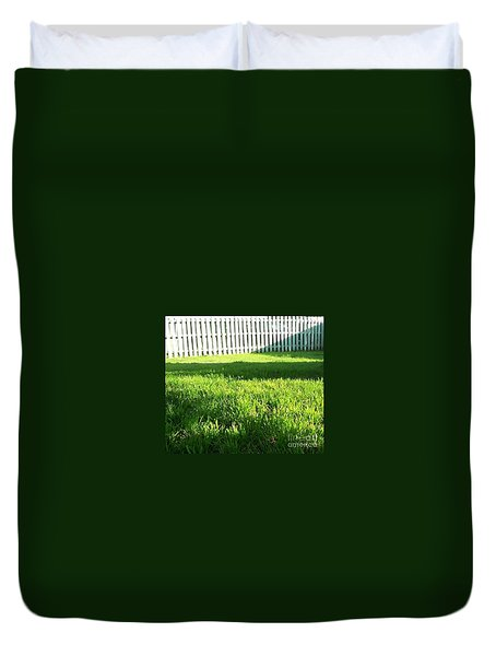 Grass Shadows Duvet Cover