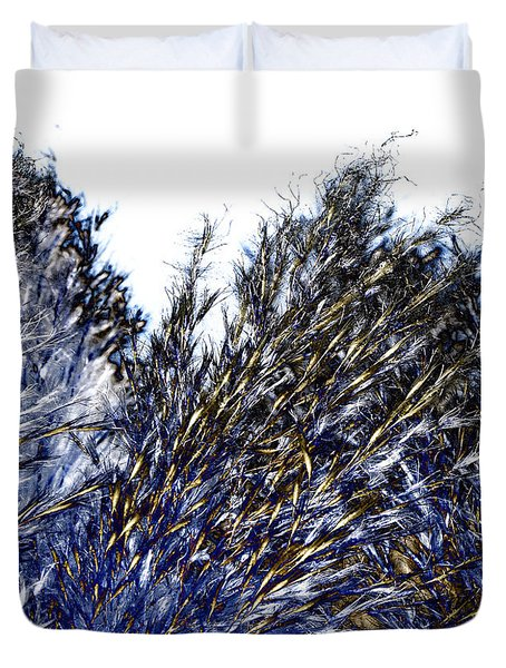 Grass Solarisation Duvet Cover by Rudi Prott