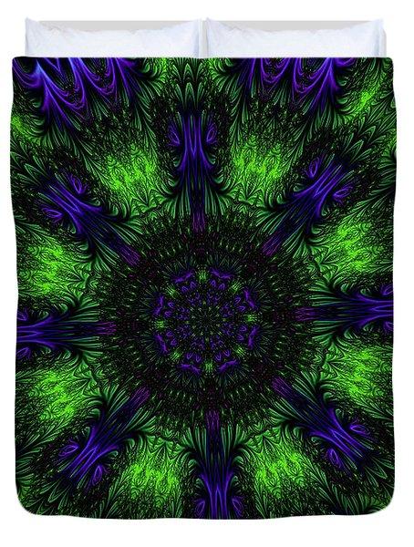 Grass Views Kaleidoscope Duvet Cover