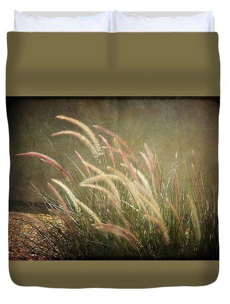 Grasses In Beauty Duvet Cover