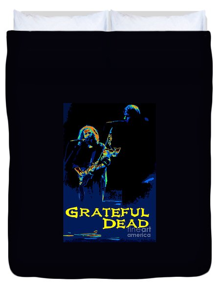 Duvet Cover featuring the photograph Grateful Dead - In Concert by Susan Carella