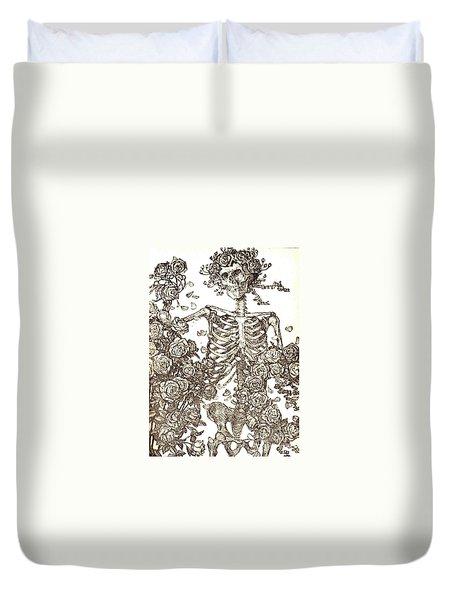 Gratefully Dead Skeleton Duvet Cover by Kelly Awad