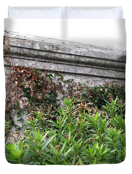 Duvet Cover featuring the photograph Grave by Beth Vincent