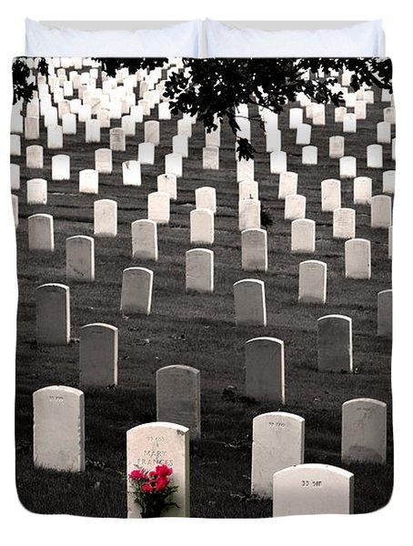 Graves At Arlington National Cemetery Duvet Cover