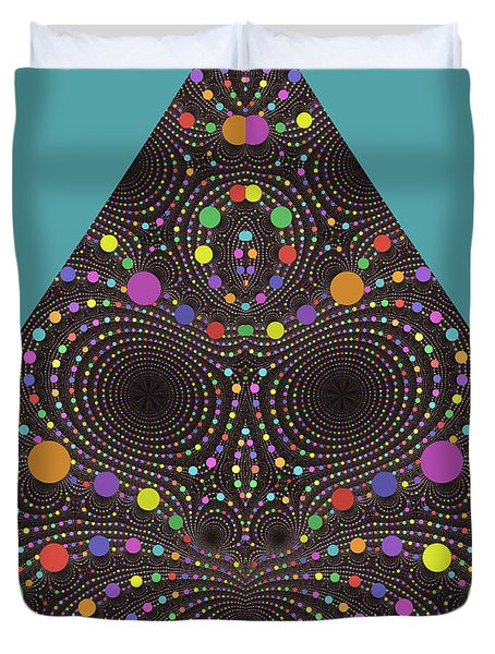 Duvet Cover featuring the digital art Gravity And Magnetism by Mark Greenberg