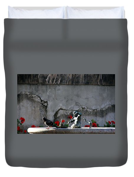Gray Duvet Cover