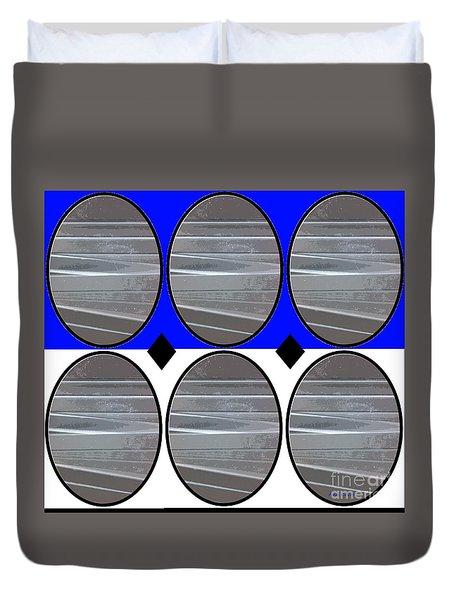 Gray Oval Duvet Cover