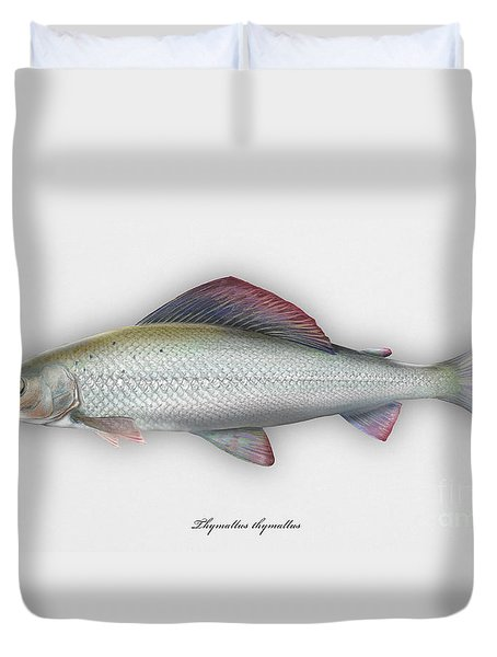 Grayling - Thymallus Thymallus - Ombre Commun - Harjus - Flyfishing - Trout Waters - Trout Creek Duvet Cover