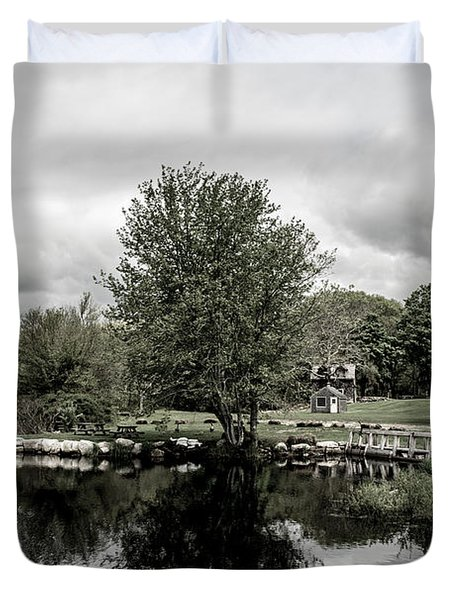 Grays Mill Pond Duvet Cover
