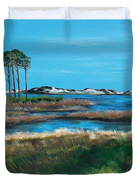 Grayton Beach State Park Duvet Cover by Racquel Morgan