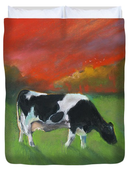 Grazing Cow Duvet Cover by Robin Maria Pedrero