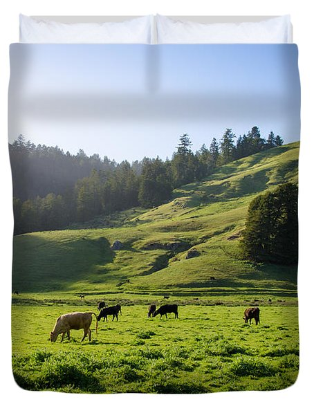 Grazing Hillside Duvet Cover by CML Brown