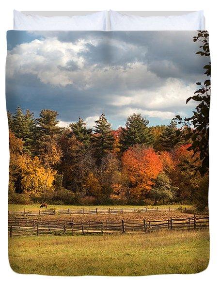 Grazing On The Farm Duvet Cover by Joann Vitali