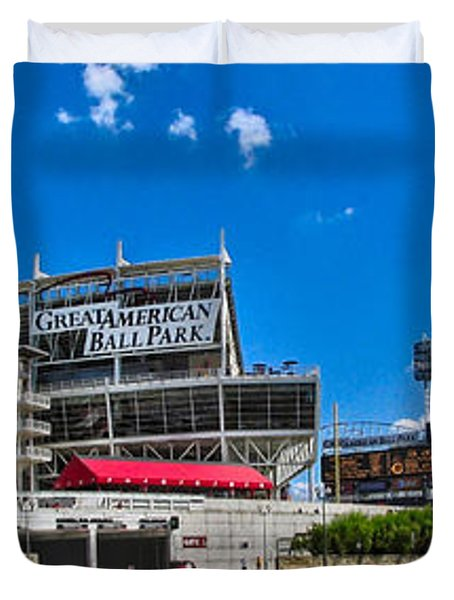 Great American Ball Park Duvet Cover