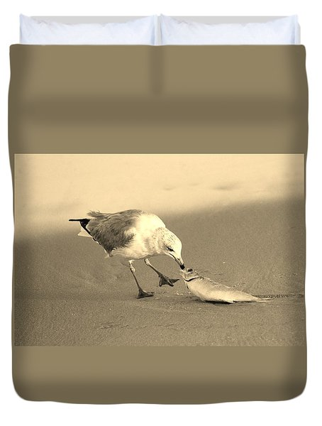 Duvet Cover featuring the photograph Great Catch With Fish by Cynthia Guinn