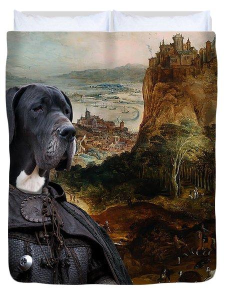 Great Dane Art - The Boar Hunt Duvet Cover