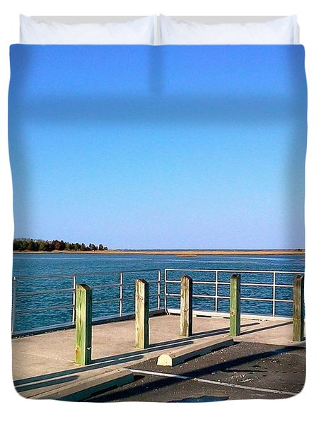 Great Day For Fishing In The Marsh Duvet Cover by Amazing Photographs AKA Christian Wilson