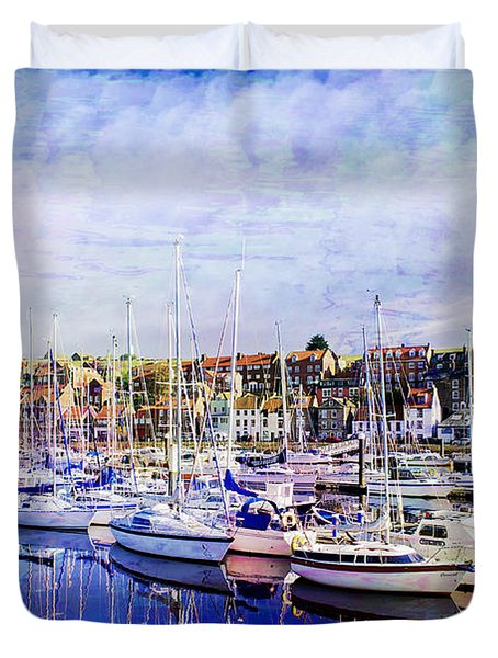 Great Day For Getting Out On The Water Featured In Abc-newbies And Photography And Textures Groups Duvet Cover by EricaMaxine  Price