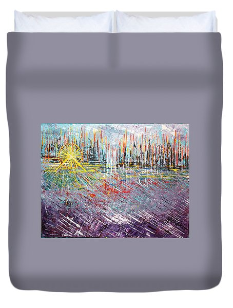 Great Day In Chicago - Sold Duvet Cover