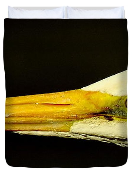 Great Egret Head Duvet Cover by Robert Frederick