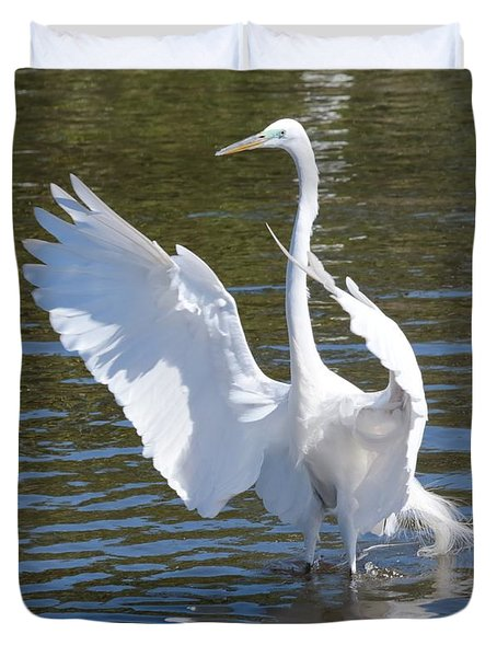 Great Egret Symphony Duvet Cover by Carol Groenen