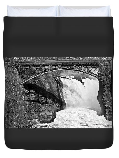 Great Falls In Paterson Nj Duvet Cover