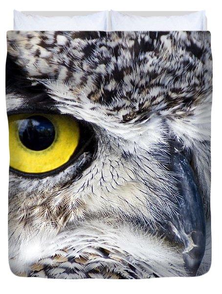 Great Horned Closeup Duvet Cover